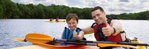 Child and Parent Kayaking