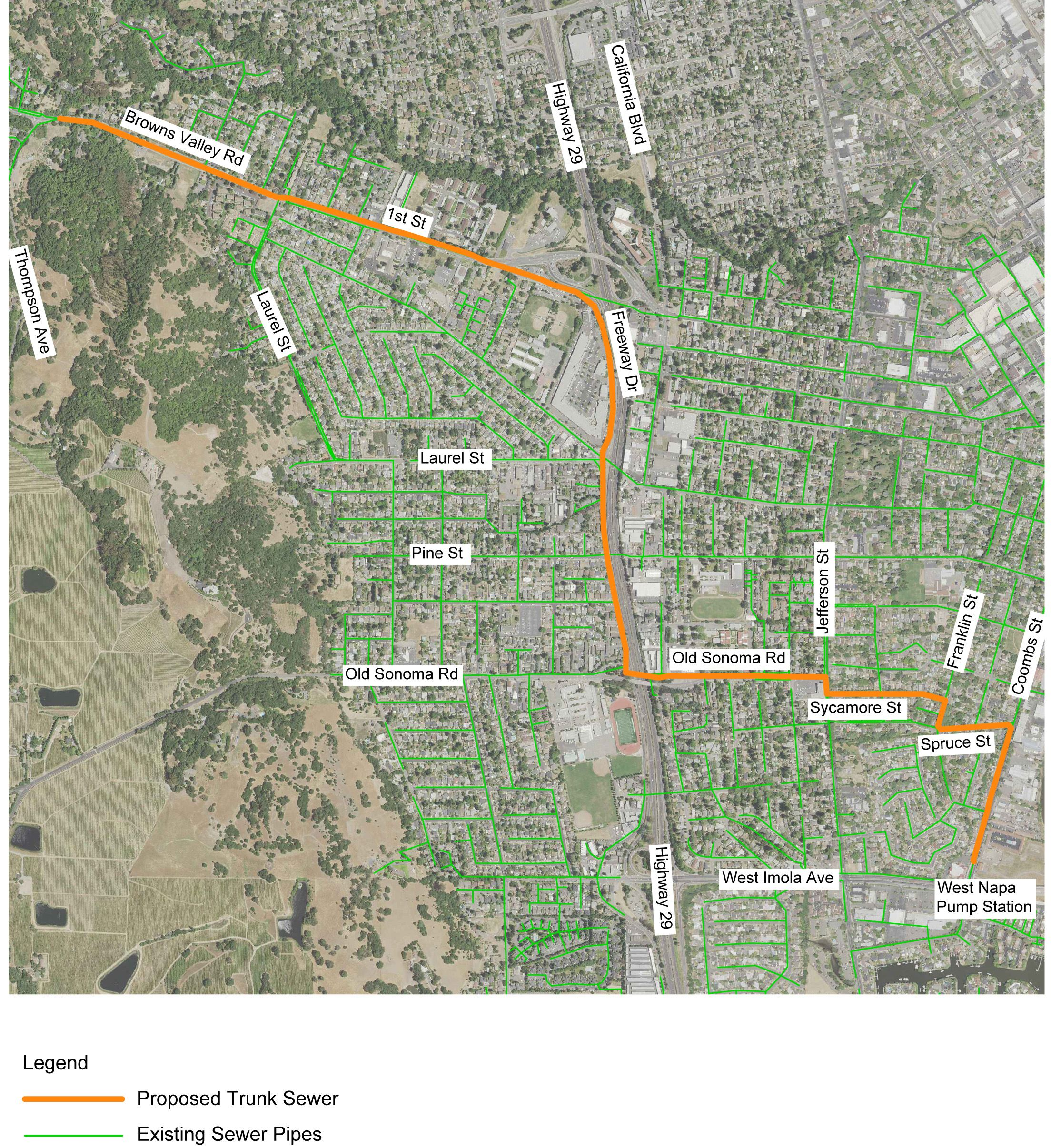Proposed Browns Valley Trunk Sewer Alignment